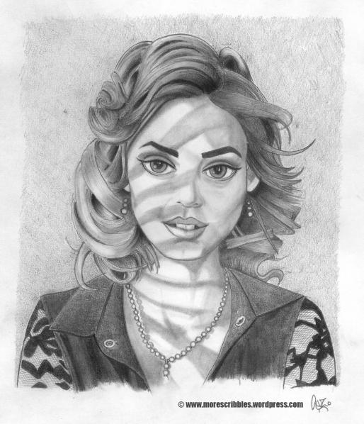 venetian blind girl